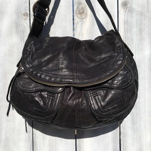 Lucky Brand Black Leather Shoulder Bags, Medium